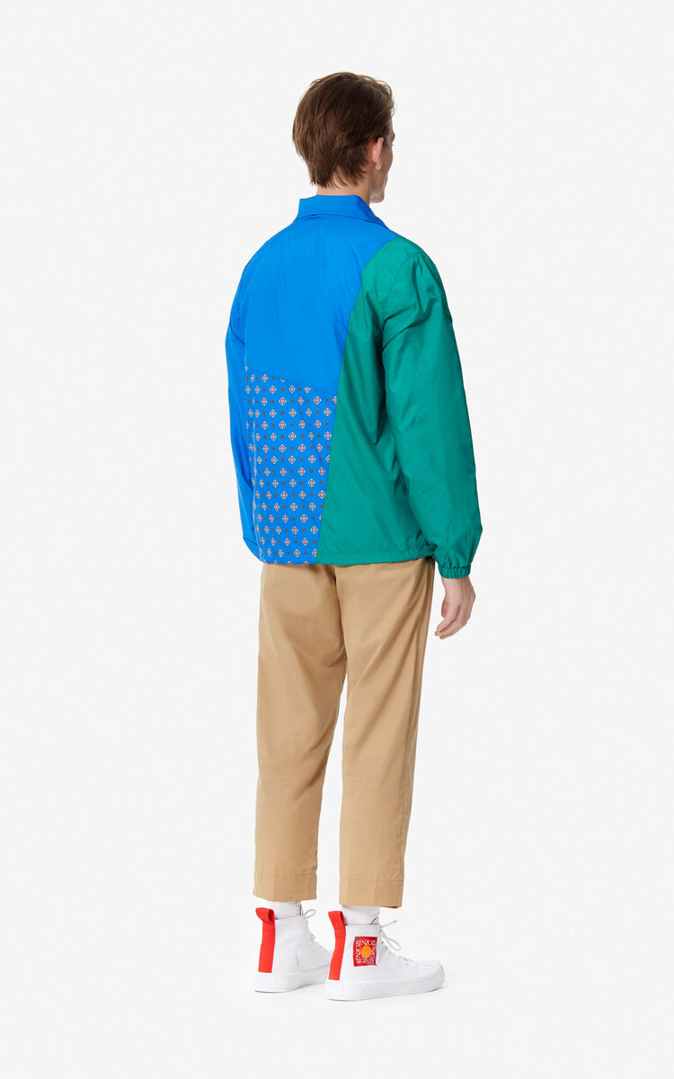 COBALT 'Médaillons' colorblock windbreaker for men KENZO