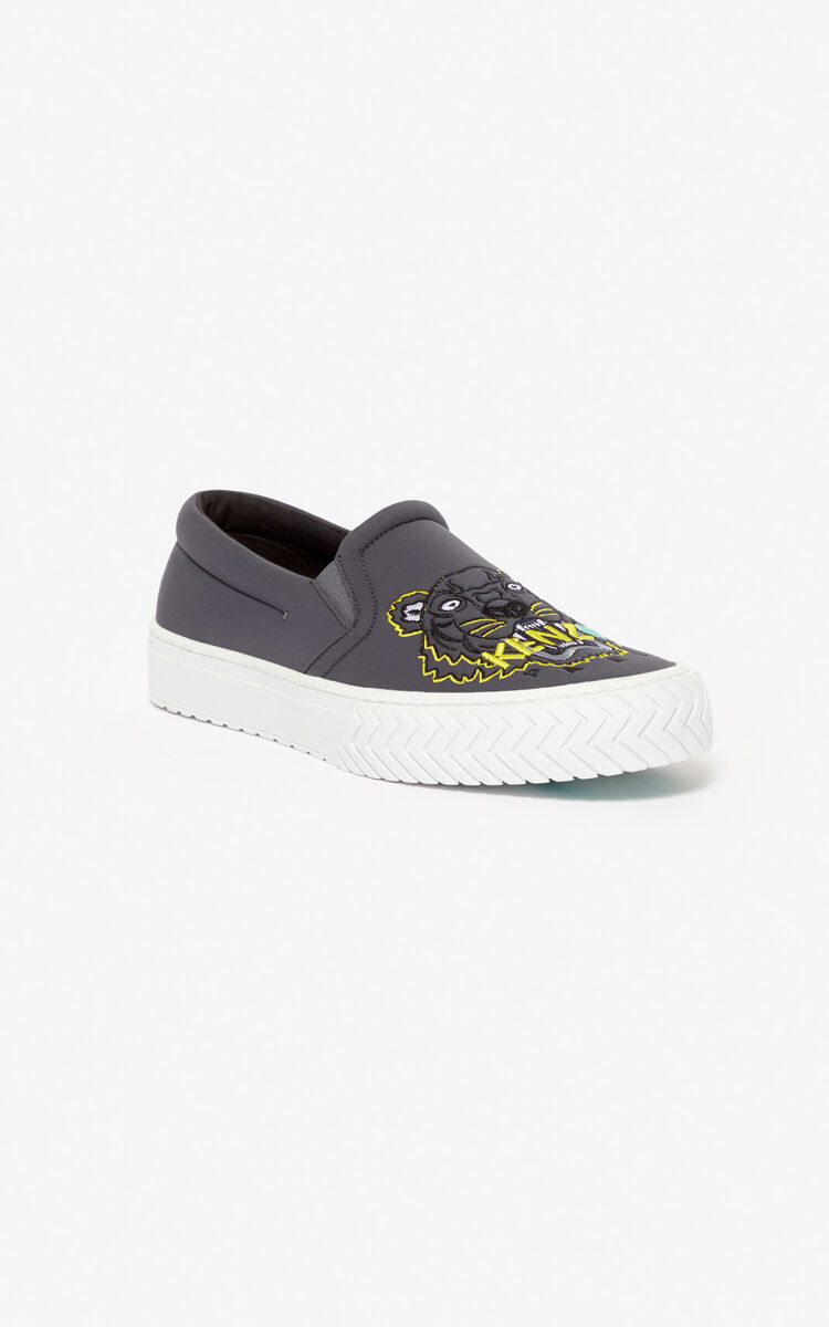 ANTHRACITE Tiger K-Skate slip-on shoes 'Capsule Back from Holidays' for women KENZO