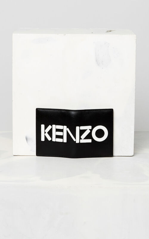 BLACK KENZO colorblock cardholder for men