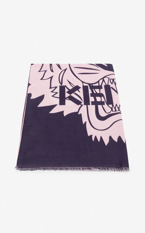 PASTEL PINK Tiger scarf for unisex KENZO