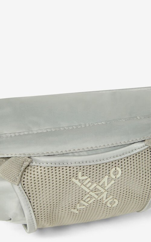 PALE GREY KENZO Sport small bumbag for unisex