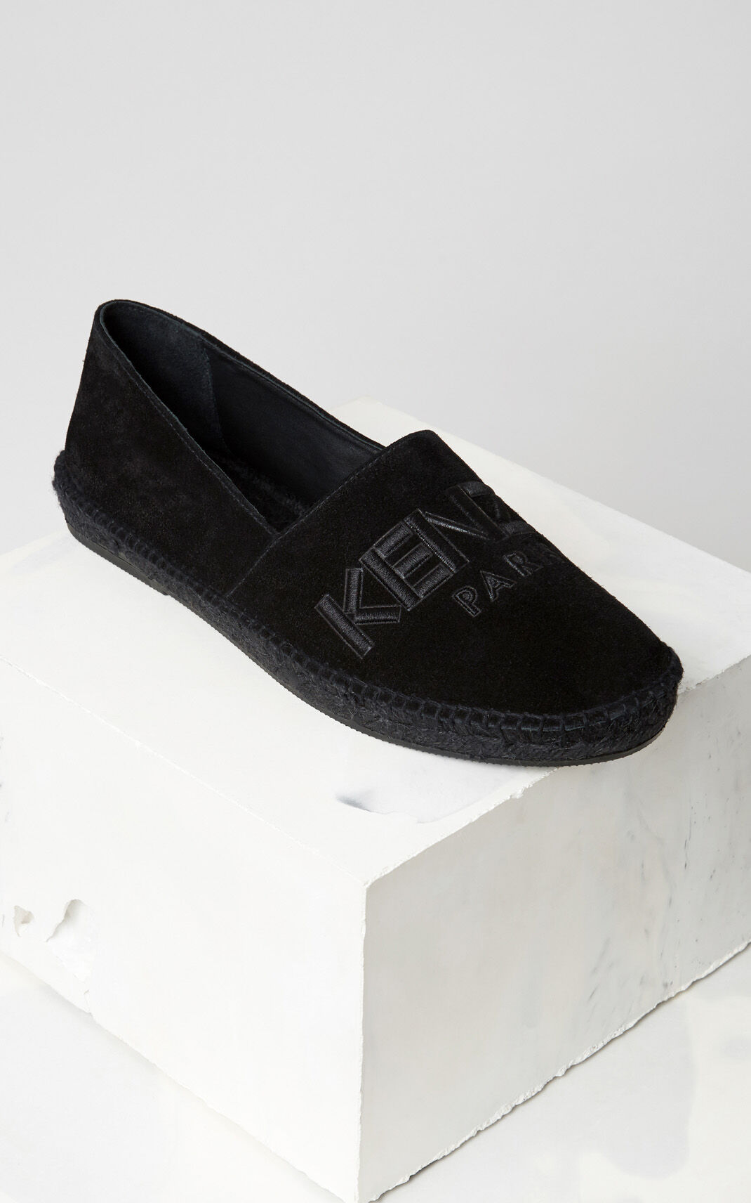 BLACK Suede KENZO Espadrilles for women
