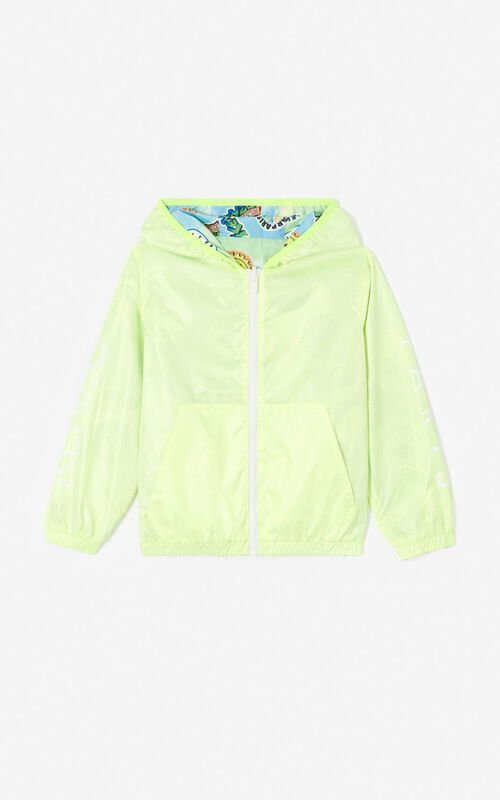 GOLDEN YELLOW Reversible KENZO Logo and 'Cali Party' Windcheater for women