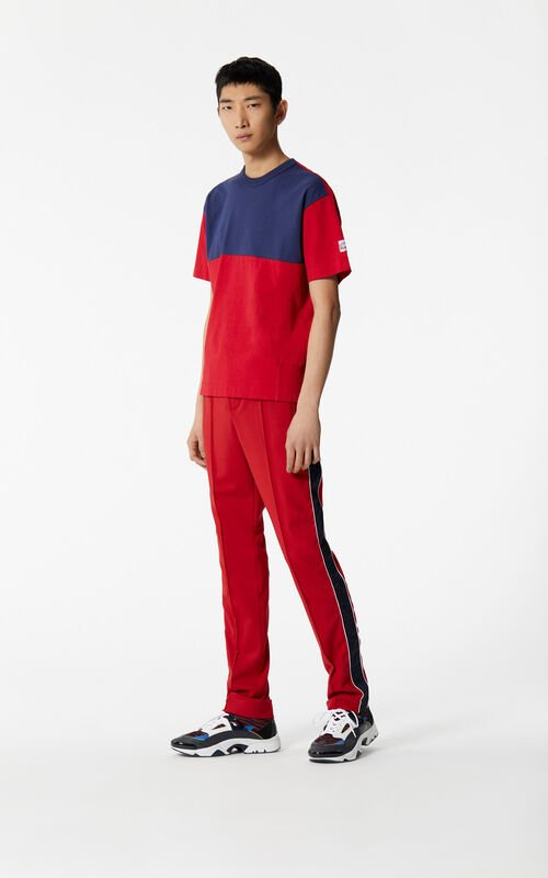 MEDIUM RED Dual-coloured trousers for men KENZO